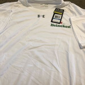 Under Armour white short sleeve pullover shirt